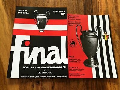 2 Liverpool European Cup Final Programmes 1977 Bmg 1985 Juventus Mint Free Post