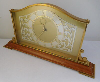 Vintage Mechanical Wind Up Mantel Clock Good Working Condition Made in England