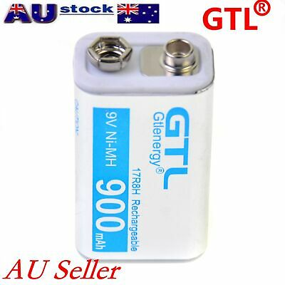 Lot of GTL White 9V 9 Volt 900mAh Ni-Mh Rechargeable Battery AU Local Shipping