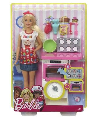 New Barbie Bakery Chef Doll and Playset