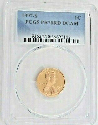1997 S Proof Lincoln Memorial Cent - PCGS PR 70 RD DCAM Red Deep Cameo (2102)