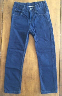 Boys H&M DARK BLUE JEANS PANTS Detailed Stitching RARE COLOR Size 6-7 Years