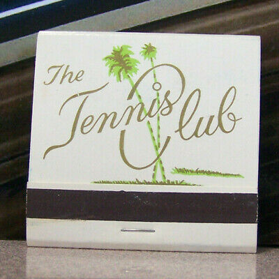 Vintage Matchbook G4 Palm Springs California Tennis Club Trees Champion Courts