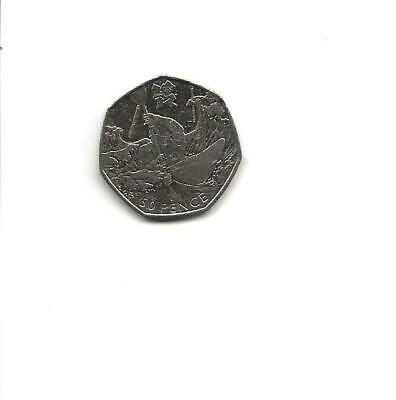 """2011 - LONDON 2012 OLYMPIC GAMES """"  Canoeing """" 50p COIN - Circulated"""