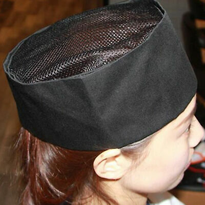 Fashion Unisex Mesh Chefs Hat Top Skull Professional Catering Breathable Cap AU