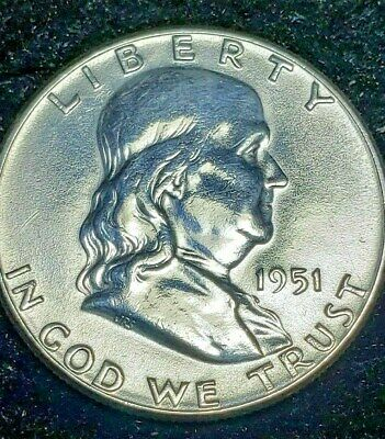 1951 P FRANKLIN HALF DOLLAR 50C 90% SILVER *FREE S/H in Holder Exact Coin Shown