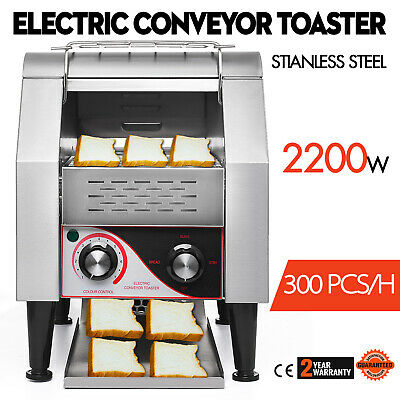 300PCS/H Electric Commercial Conveyor Toaster 2200W Bagel Food Countertop 220V