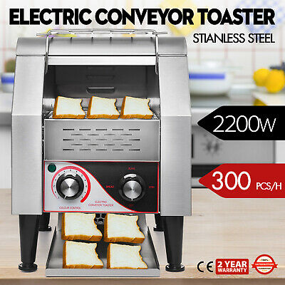 300PCS/H Electric Commercial Conveyor Toaster Restaurant Toasting Machine 2200W