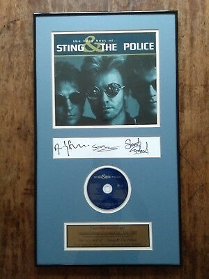THE POLICE - hand-signed framed CD set by all 3 - official limited award Sting