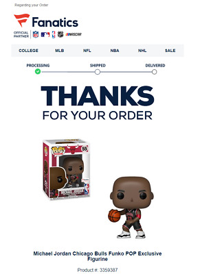 Funko Pop Michael Jordan Fanatics NBA Exclusive Black Jersey 55 Confirmed - Free