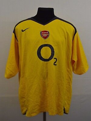 ac25dfe1174 NIKE ARSENAL FOOTBALL Shirt XXXL 3XL Away Yellow The Gunners Soccer ...