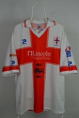 Rare Patrick England Rugby League World Cup 2000 Short Sleeve Shirt jersey XXL