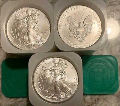 Silver American Eagle 2009 (1)-20-Oz Brilliant Uncirculated Mint Tube 20 Troy Oz