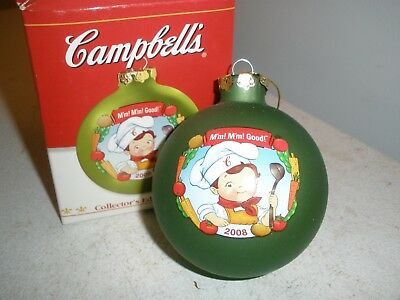 Vintage Campbell Soup 2004 Ball Ornament Happy Holidays Kids Box