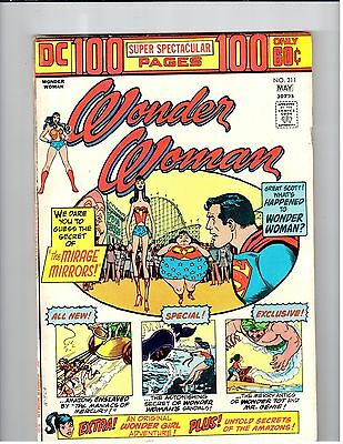 DC WONDER WOMAN 100-Page Super Spectacular #211 May 1974 VG+ vintage comic