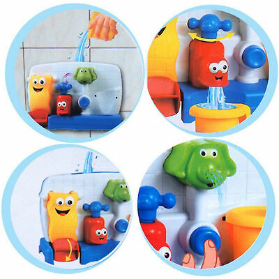 Flow Fill Spout Automatic Play Cartoon Fun Bath Toys Gift For Kids Baby AU Ship