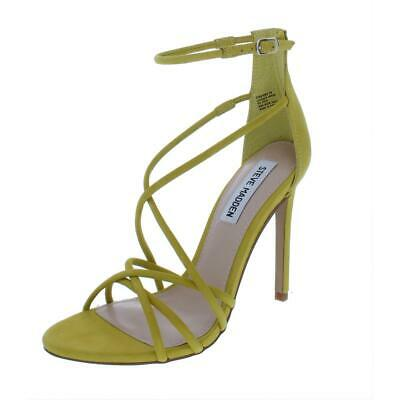 88b805729df4 Steve Madden Womens Strapped Yellow Dress Sandals Shoes 7 Medium (B