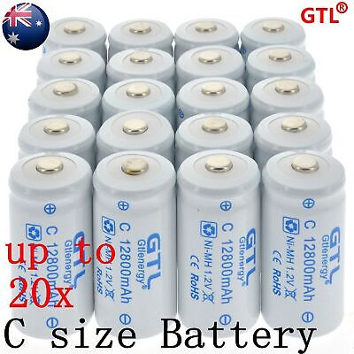 Size C 1.2v 12800mAh Ni-MH Rechargeable Battery High Quality AU local Fast ship