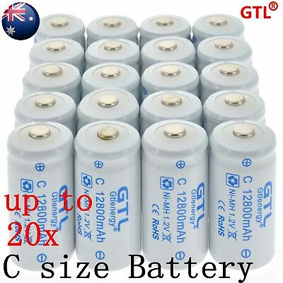 Size C 1.2v 4000mAh Ni-MH Rechargeable Battery High Quality AU local Fast ship