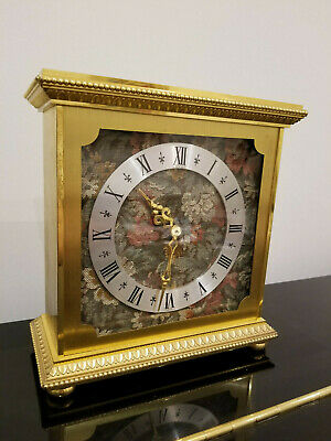 8-Day Luxor Swiss Made Carriage / Mantel, Antique Clock, Very Heavy Brass Gilt