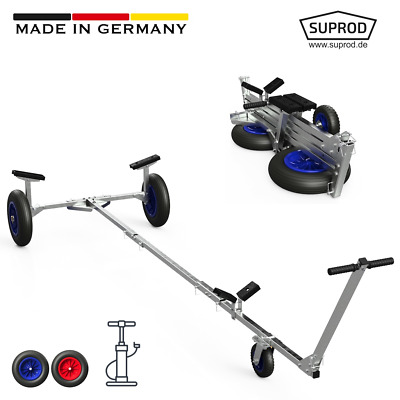 Foldable Launching Trolley with PNEUMATIC WHEELS for Inflatable, SUPROD TR350-LU