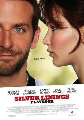 Silver Linings Playbook movie poster : 11 x 17 inches : Jennifer Lawrence poster