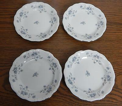 FOUR VTG 1974 Johann Haviland Bavaria Germany Blue Garland Bread & Butter Plate