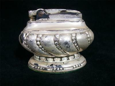 Vintage Ronson Crown Silver-plated Table Cigarette Lighter FREE SHIPPING