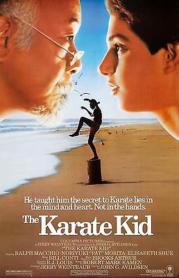 "The Karate Kid movie poster  -  11"" x 17"" inches - Ralph Macchio, Pat Morita"