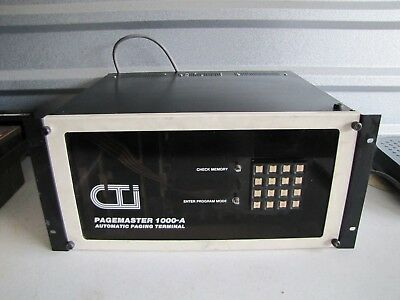 Cti Pagemaster 1000-A 1000A Automatic Paging Terminal