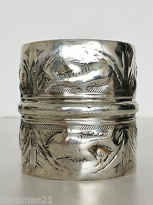 MOHAMED EL MEKKAWY Turkey Egypt Ottoman Empire Large Silver Cuff 03839
