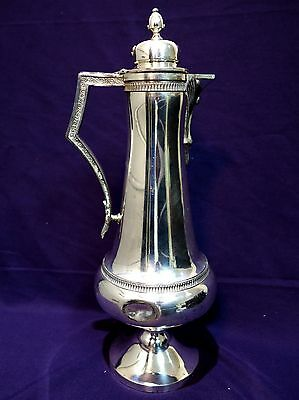 Shabby Middle Town 1898 Silver Plate Serving Aesthetic Art Decor Pitcher Ewer