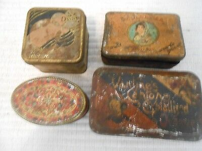 Vintage advertising Tins, 4 different ones, lot of 4 tins