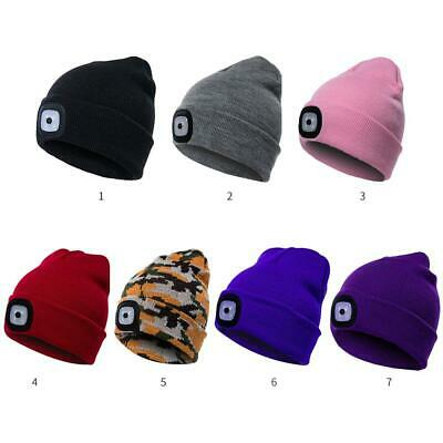 LED Light Cap Knit Beanie Hat Batteries Outdoor Hunting Camping Fishing New