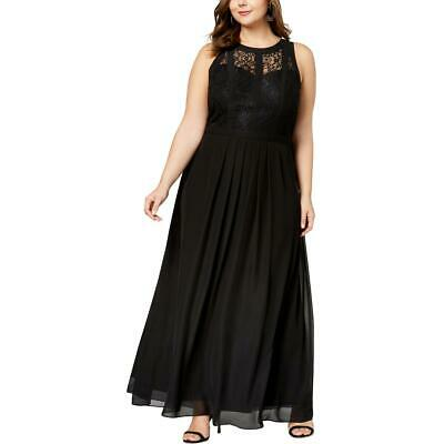 c910b35eb2d Betsy   Adam Womens Black Lace Chiffon Evening Dress Gown Plus 14W BHFO 9512