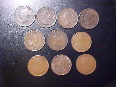 10 Various Canada Coins - Victoria - Edwardvs - Georgivs Y138Qxx-R