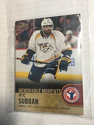 2017-18 Upper Deck National Hockey Card Day Complete Set of 17 cards