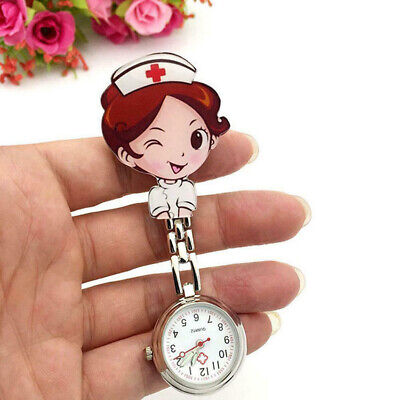 Novelty Nurse Fob Watch Brooch Pocket Watches Doctor Medical Pendant Clip
