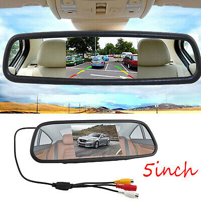 5'' inch TFT LCD Color Screen 2 Video Input Car Rear View Camera DVD VCR Monitor