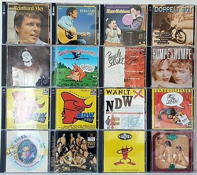 LOT OF 25 German Music CD's & Cassettes by German Artists: Humor