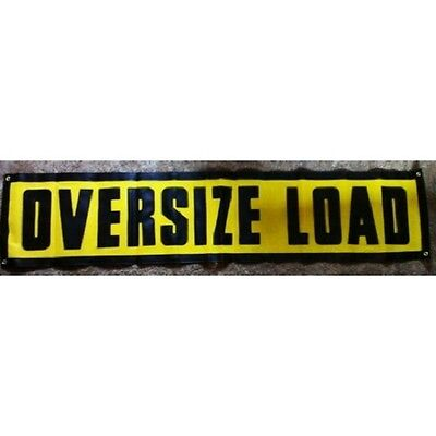 15x72 Grommet Oversize Load Sign Heavy Duty Stitched Letters  ~Safety Pilot Car