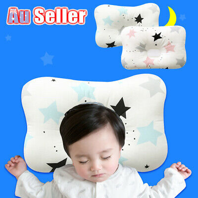 Baby Infant Head Neck Prevent Newborn Square Pillow Support Syndrome Flat