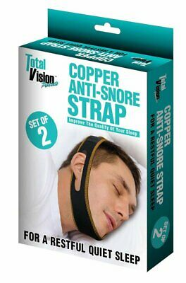 Total Vision Copper Anti Snore Chin Strap for Snoring Set of 2