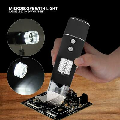 Handheld Microscopio Digitale Elettronico WiFi 2MP 1000X 8 LED USB Per Cellulare