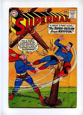 Superman #134 - DC 1960 - GD+ - Super-Outlaw from Krypton