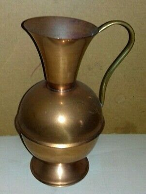 Vintage Brass Handled Copper Jug