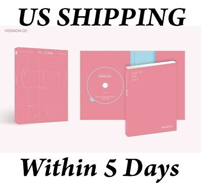 US SHIPPING BTS Map Of The Soul:Persona Album 02 Ver. CD+Booklet+Card+Etc+Gift
