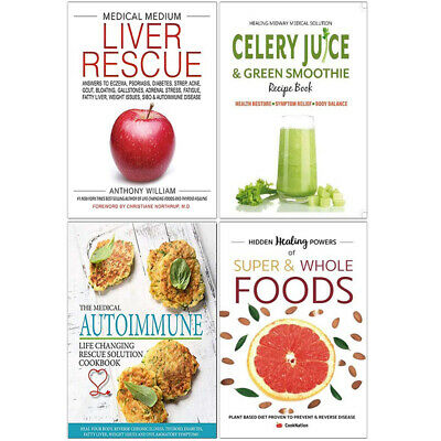 Medical Medium Liver Rescue,Celery Juice & Green Smoothie 4 Books Collection Set
