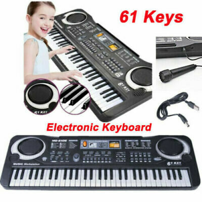 61 Keys Electric Piano Digital Music Electronic Keyboard Organ & Microphone Set