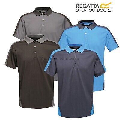 Regatta Coolweave Mens Polo Shirt Yellow Short Sleeve Sweat Wicking Summer Top